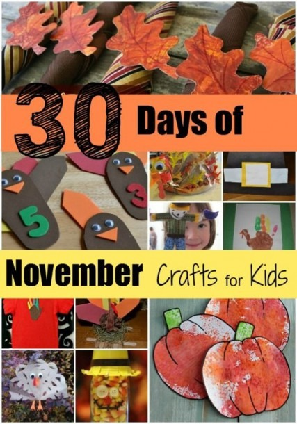 Mamas Like Me  30 Days Of November Crafts For Kids