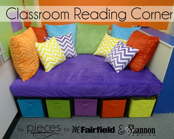 Pieces By Polly  Diy Classroom Reading Corner With Cuddle® Fabric