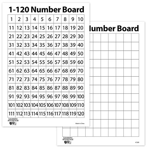 120 Number Chart  Amazon Com