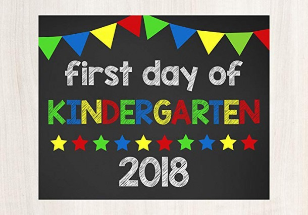 Amazon Com  First Day Of Kindergarten Sign, First Day Of School