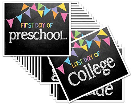 Amazon Com  First Day & Last Day Of School 8x10 Photo Prop Signs