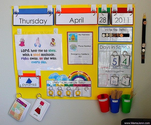 Preschool Circle Time Board And Supplies With Some Fun Ways To