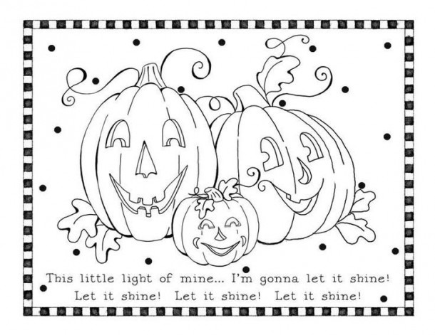 Halloween Christian Coloring Pages