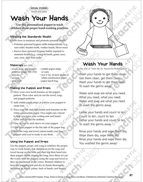 Wash Your Hands  Early Learning Activity