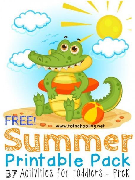 Free Summer Printable Pack For Toddlers