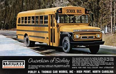 Thomas School Bus History,perley A  Thomas Car Works, Thomas Built