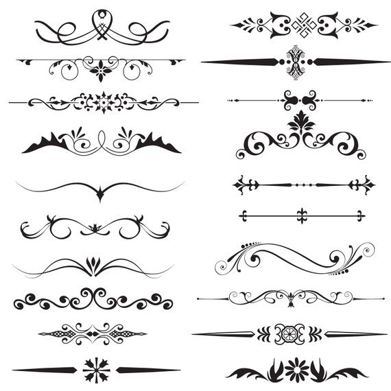Page Divider Clipart,text Divider Clipart,decorative Dividers