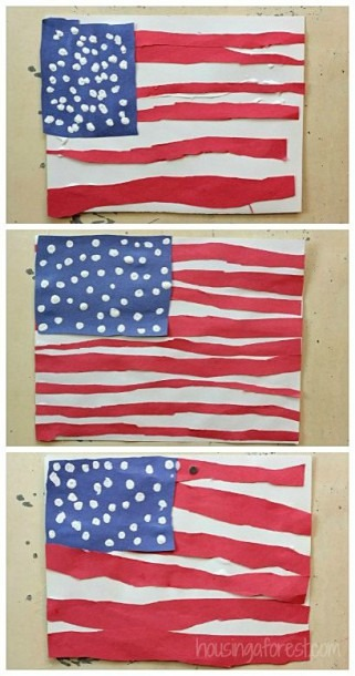 Patriotic Crafts For Kids ~ American Flag Craft For Kids