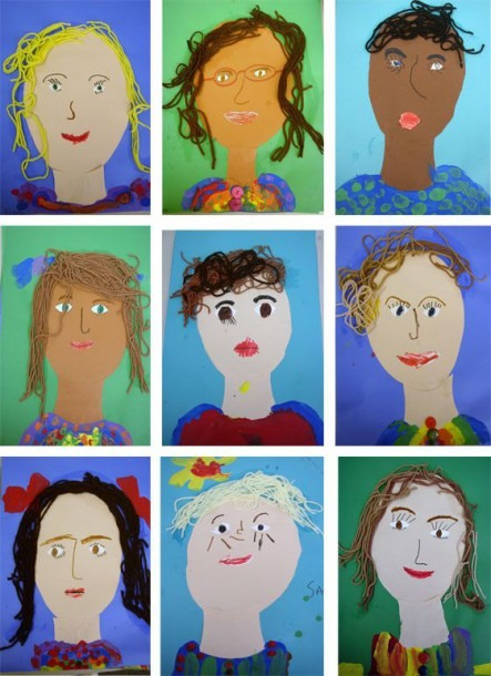 Easy Collage Portraits Craft