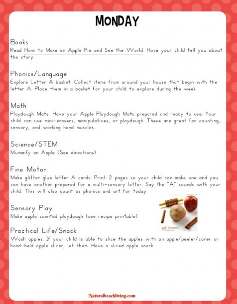 The Best Kindergarten And Preschool Apple Theme Activities And