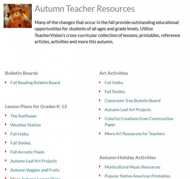 Activities For Fall   Autumn At Internet 4 Classrooms
