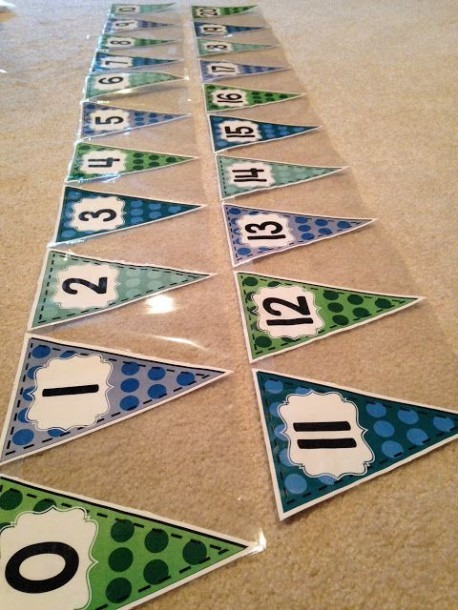 Printable Number Line Bunting Banner And Other Classroom Decor