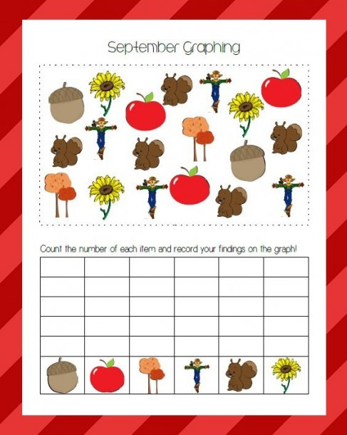 Fall Themed Find & Graph Activity