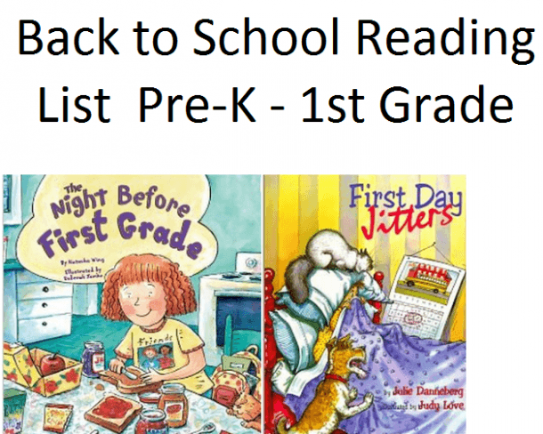 Back To School Ideas & Back To School Books For Pre