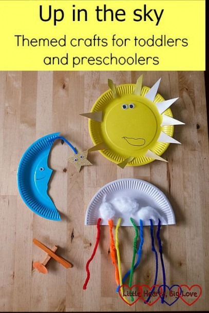 Up In The Sky  Themed Crafts For Toddlers And Preschoolers
