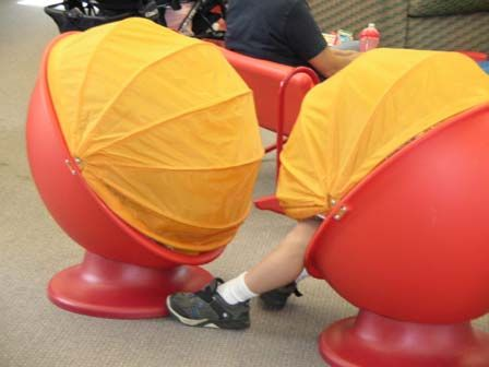 Egg Chairs From Ikea  Kids Love 'em