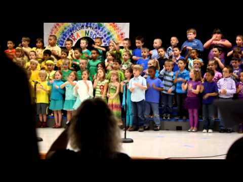 Kindergarteners Sign Language Song  What A Wonderful World