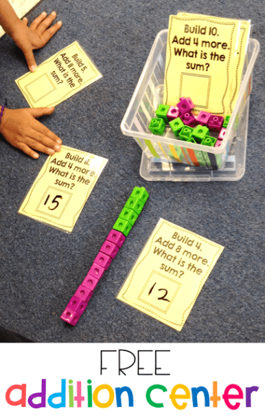 More Math Stations And An Addition Freebie!