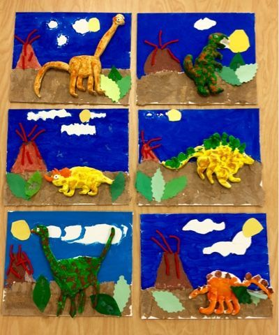 Art With Mr  Giannetto  2nd Grade  Dinosaurs