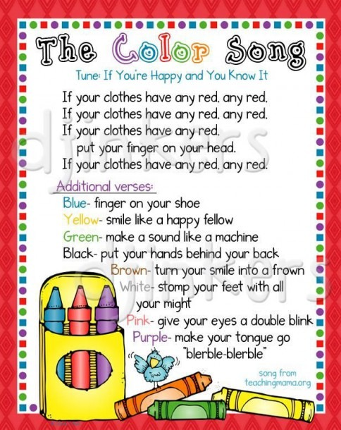 Color Song, Learning Colors, Color Border, Cute Clip Art, Crayon