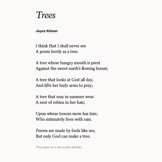 Poets Org On Twitter   I Think That I Shall Never See A Poem