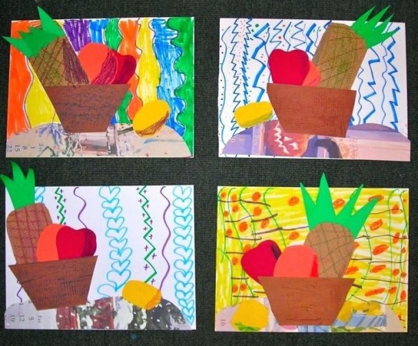 Easy Kindergarten Art Lessons Still Life Collage Activities