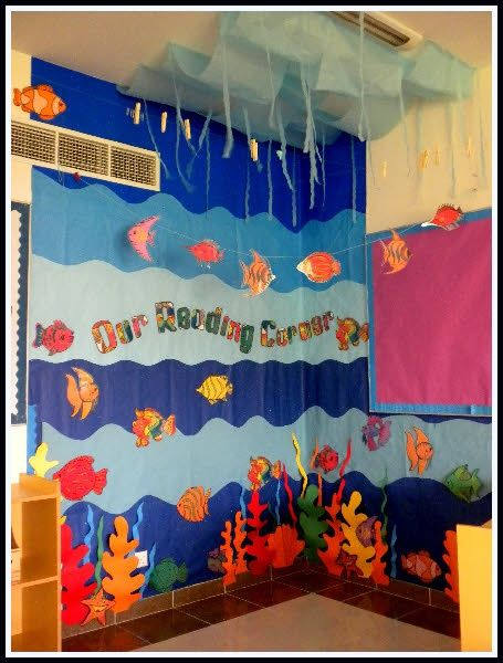 Ocean  Board  Bulletin  Spring  Decoration  Preschool