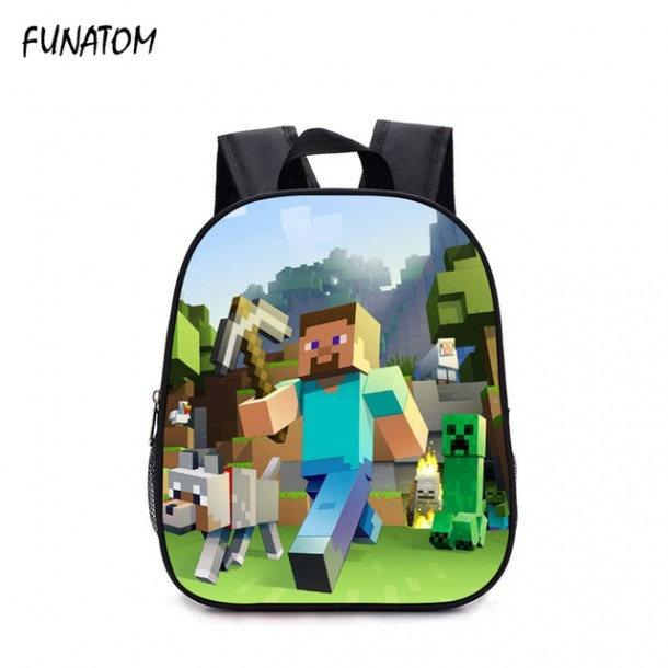 Children Backpack Kindergarten Backpack Boy Cute Minecraft Cartoon