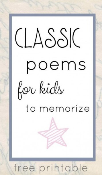 The Best Classic Poems For Kids To Memorize