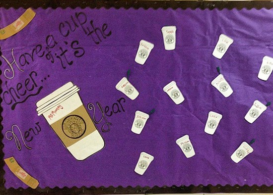Have A Cup Of Cheer, It's The New Year!  Bulletin Board Idea