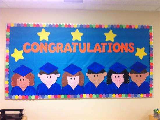 Congratulations!  End Of The Year Graduation Bulletin Board Idea