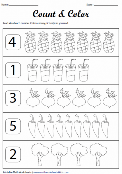 Counting To 10 Worksheet