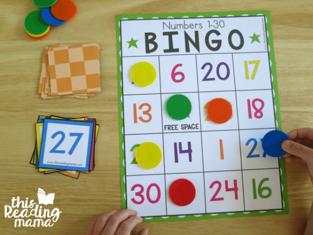 Free Number Bingo For Numbers 1
