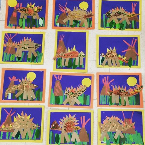 Dinosaur Collages