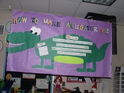 Alligator Pieinteractive Writing To Go With The Snack (vanilla