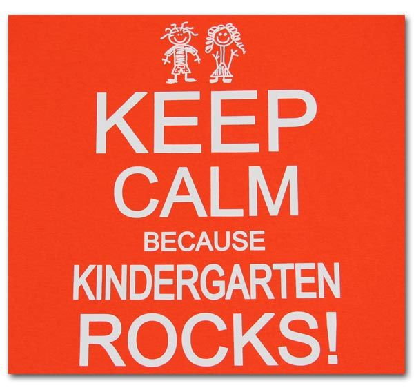 Keep Calm Because Kindergarten Rocks
