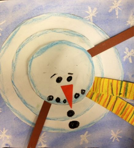 New Perspective Of A Snowman