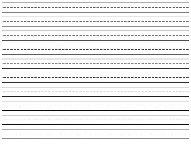 Lined Paper For First Grade