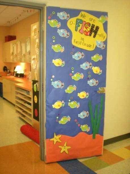 Door Decoration Fish March Decorations Classroom For Valentines
