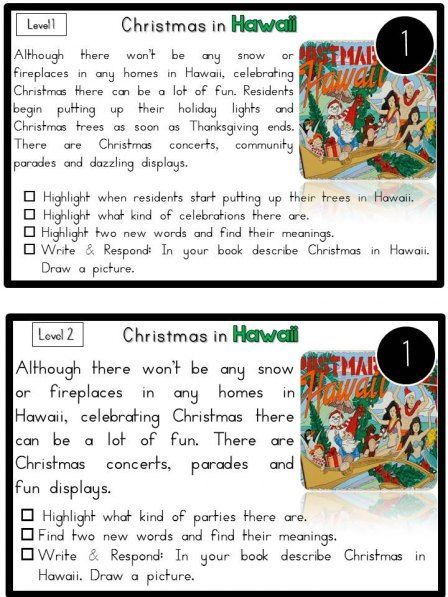 Reading Comprehension Passages Christmas Around The World Hands