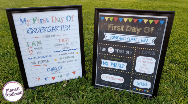 Editable First Day Of School Signs To Edit And Download For Free!