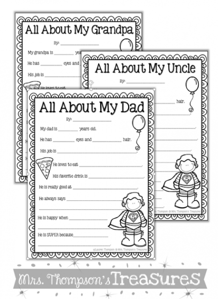 Father's Day  Two Free Printable Activities