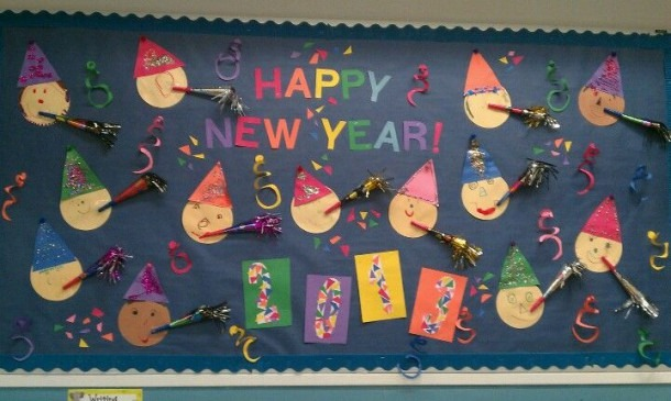 Our New Year's Bulletin Board