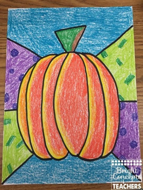 Free Pumpkin Directed Drawing Lesson