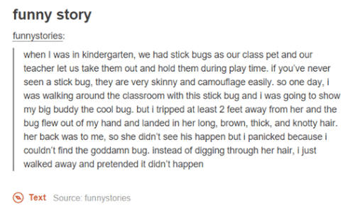 Funny Story Funny Stories When I Was In Kindergarten We Had Stick