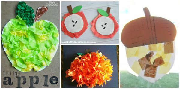 12 Fun Fall Crafts For Kids Using Tissue Paper