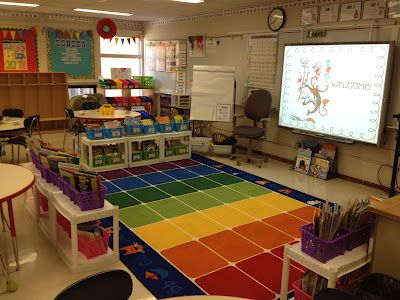 The Techy Teacher  Carpet Area, Library, And Smartboard