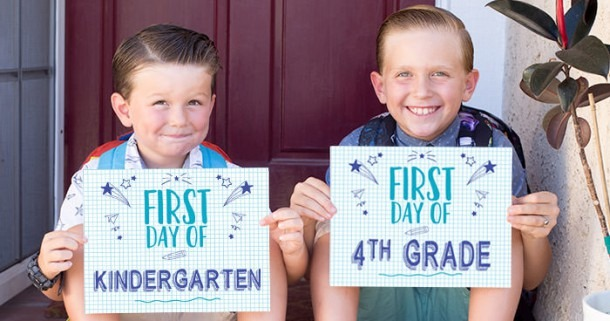 Free First Day Of School Printable Signs (all Grades)