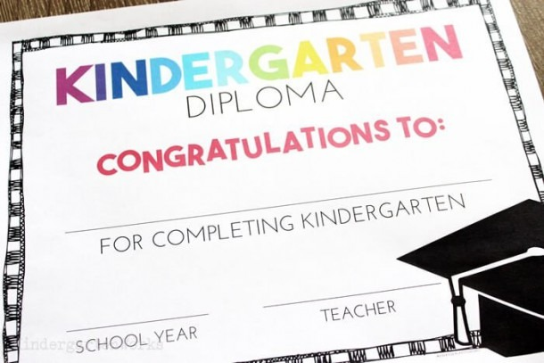 Free End Of Year Certificates And Kindergarten Graduation Diplomas