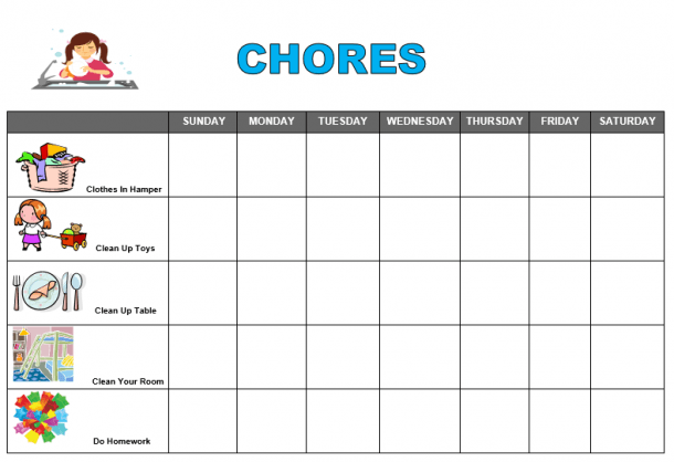 Free Printable Chore Chart Ideas (86+ Images In Collection) Page 1